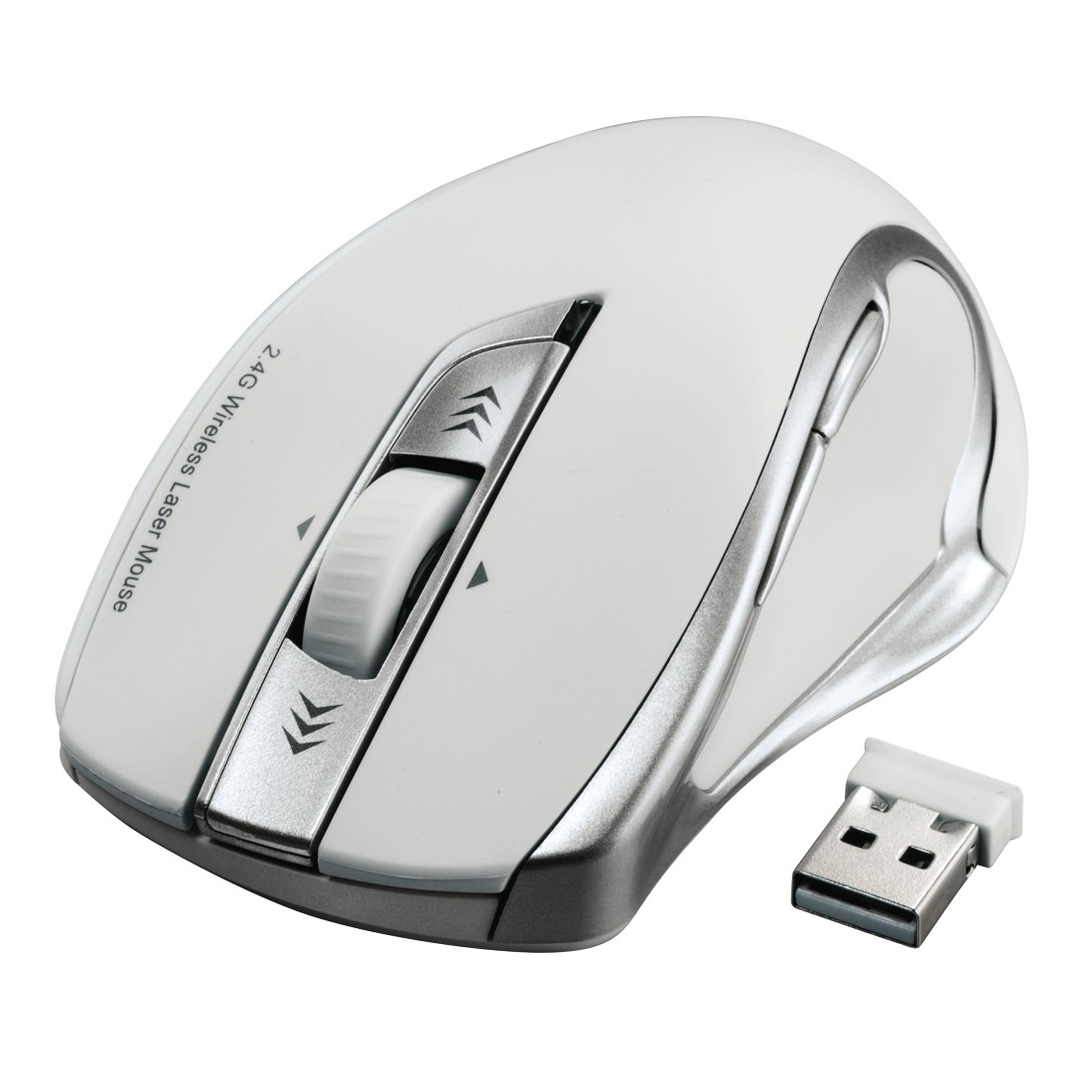 abx4 High-Res Image4 - Hama, Mirano Wireless Laser Mouse, noiseless, white