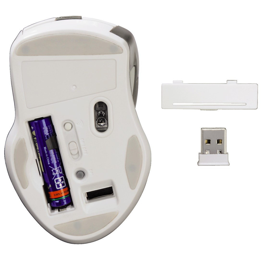 dex High-Res Detail - Hama, Mirano Wireless Laser Mouse, noiseless, white