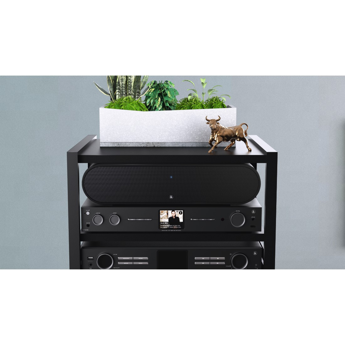 "awx3 High-Res Appliance 3 - Hama, Smart-slim-soundbar 2.1 ""SIRIUM3800ABT"" wireless subwoofer/Alexa/Bluetooth®"