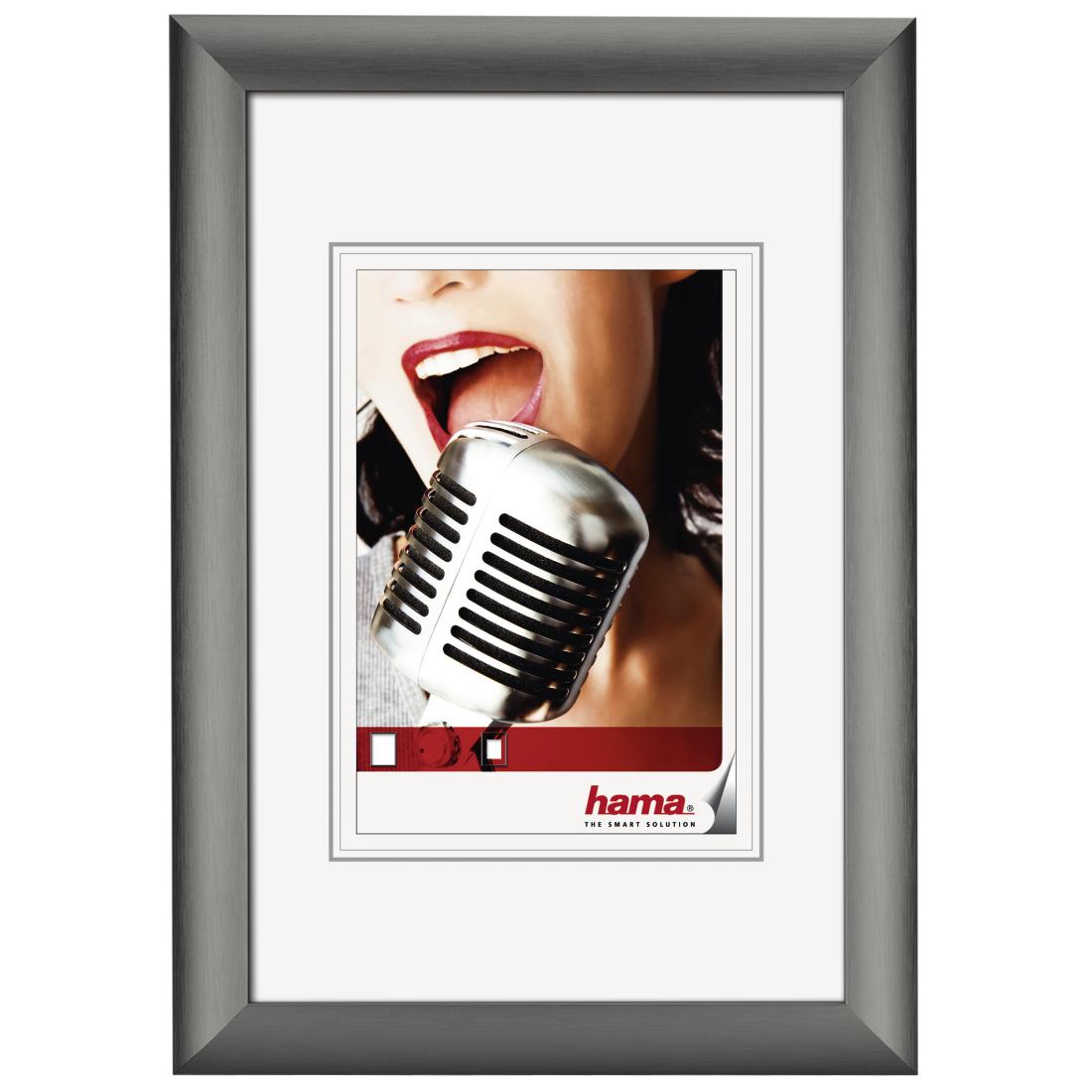 61294 hama fotolijst alu manhattan contrast grijs 70x100 hama nv. Black Bedroom Furniture Sets. Home Design Ideas