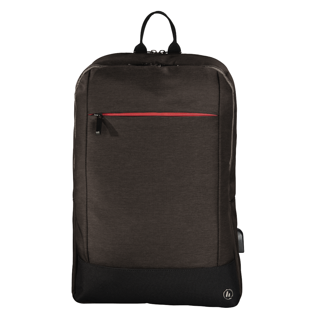 "abx High-Res Image - Hama, Notebook-rugzak ""Manchester"", tot 40 cm (15,6""), bruin"