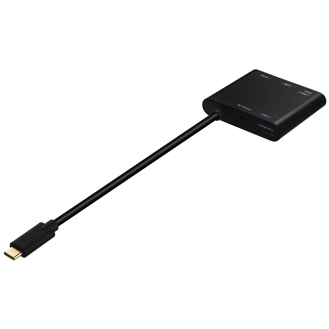 abx3 High-Res Image 3 - Hama, 4in1-USB-C-multiport-adapter voor 2 xUSB 3.1, HDMI™ en USB-C (gegevens)