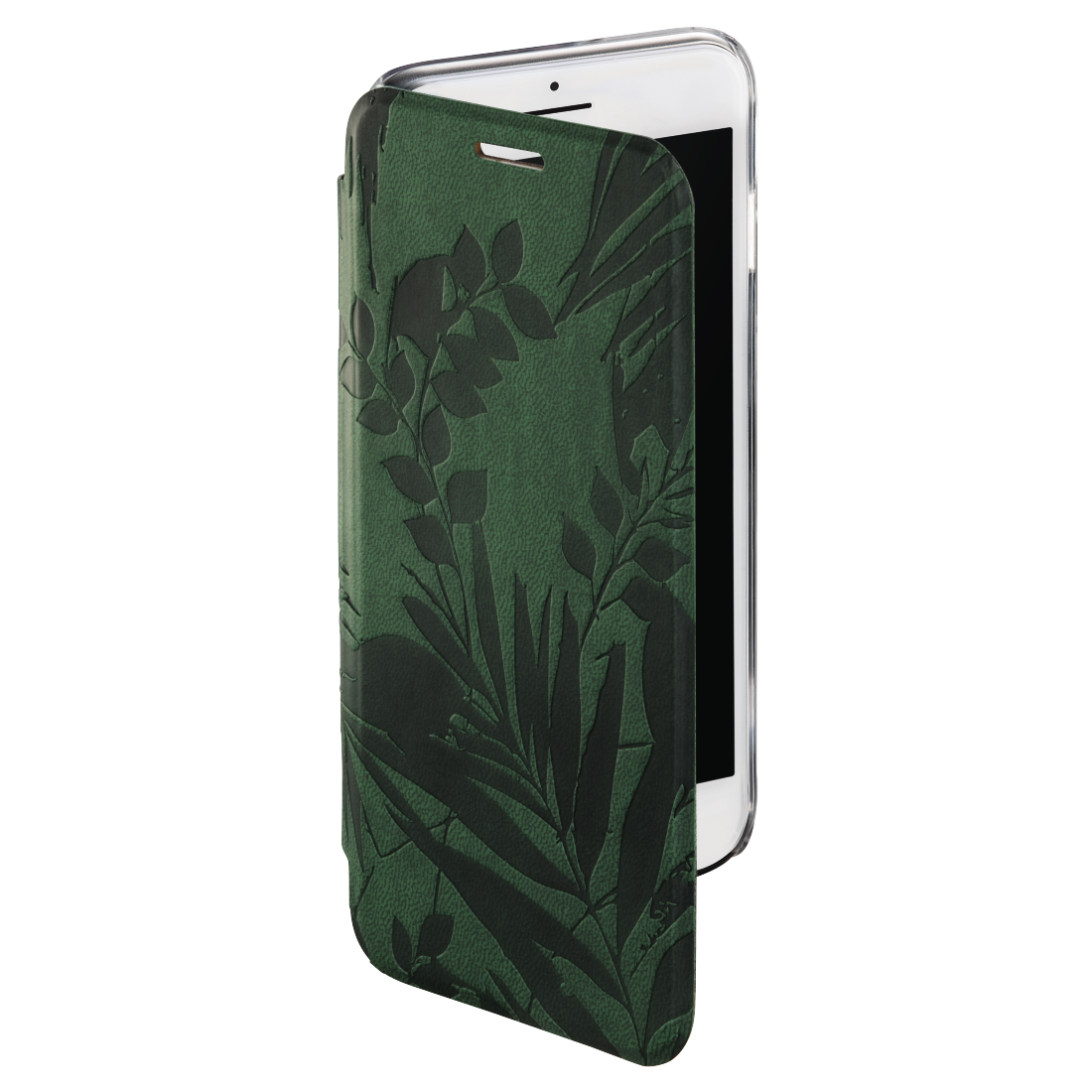 "abx2 High-Res Image 2 - Hama, Booklet ""Jungle Leaves"" voor Apple iPhone 6/6s/7/8, donkergroen"