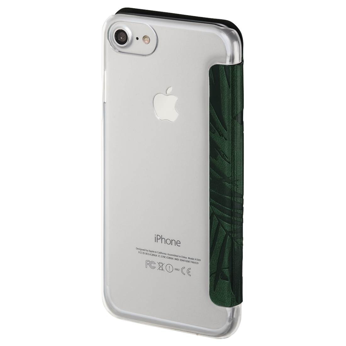 "abx3 High-Res Image 3 - Hama, Booklet ""Jungle Leaves"" voor Apple iPhone 6/6s/7/8, donkergroen"