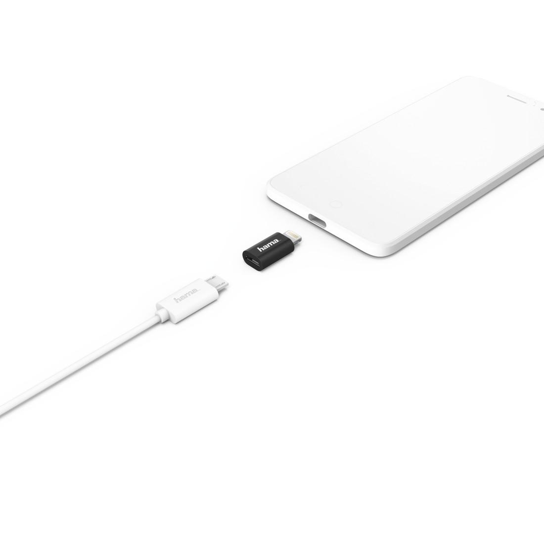 178400 Hama Micro Usb Adapter Naar Apple Lightning Stekker