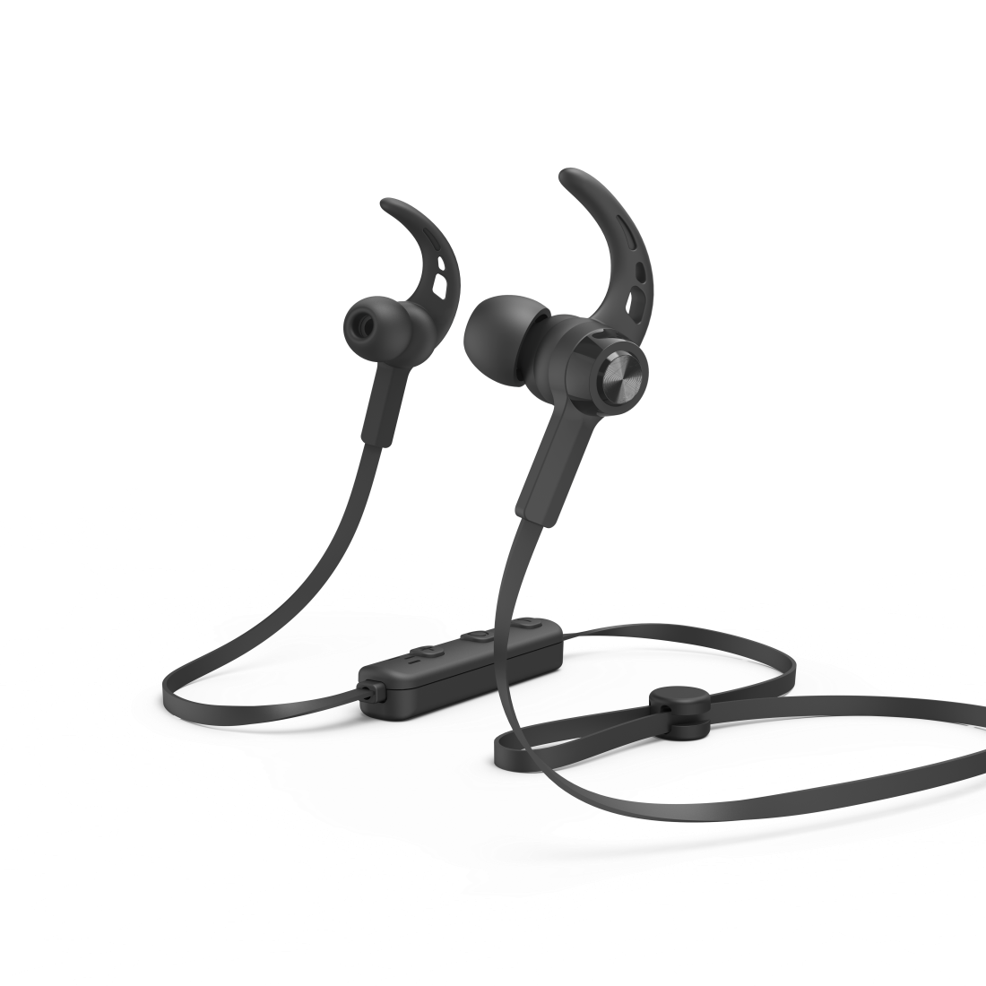 "abx2 High-Res Image 2 - Hama, Bluetooth®-koptelefoon ""Connect"", in-ear, micro, ear-hook, zwart"
