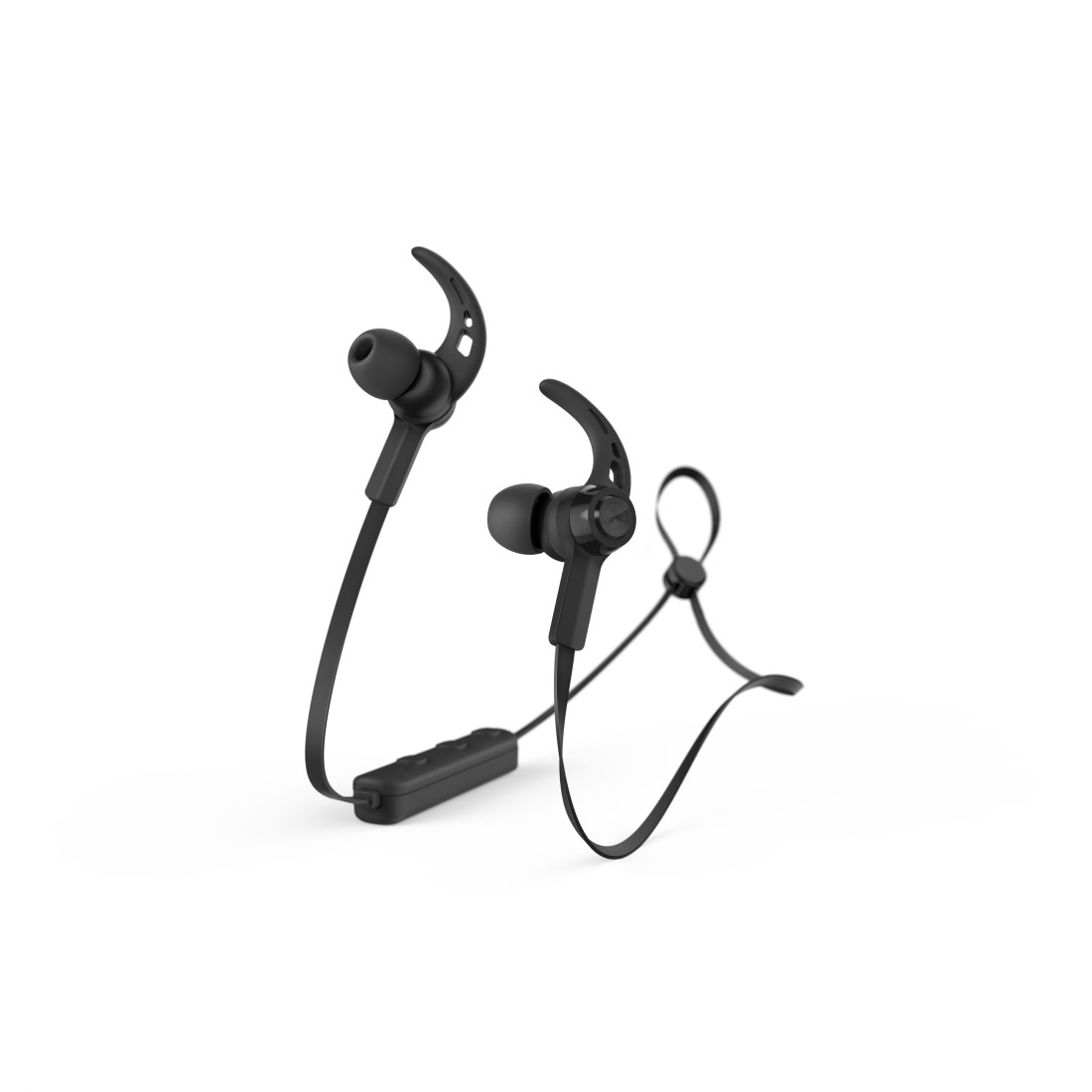 "abx3 High-Res Image 3 - Hama, Bluetooth®-koptelefoon ""Connect"", in-ear, micro, ear-hook, zwart"
