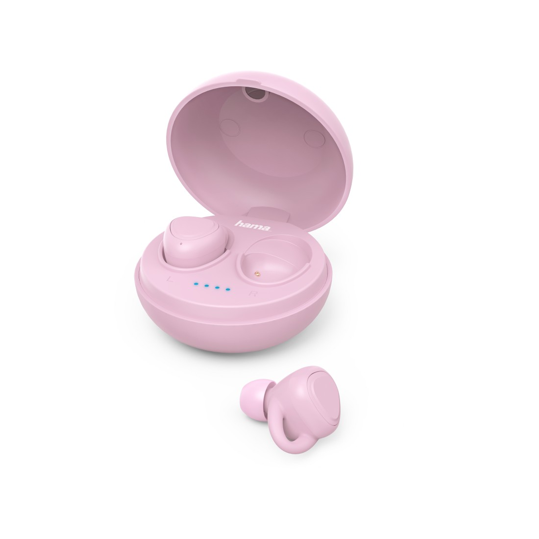 "abx High-Res Image - Hama, Bluetooth®-koptelefoon ""LiberoBuds"", in-ear,true wireless,oplaadstat., pink"