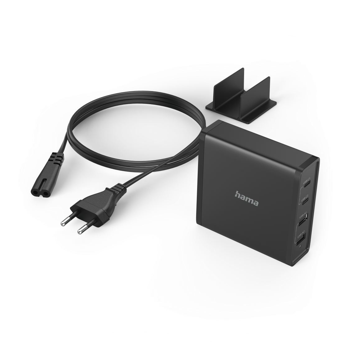 abx3 High-Res Image 3 - Hama, Universeel USB-C-oplaadstation, 4-voudig, Power Delivery (PD), 5-20V/65W