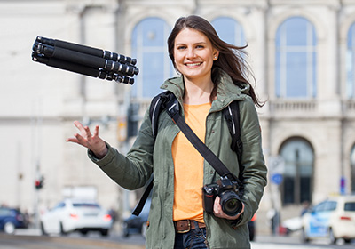 "Light and compact: ""Traveller Premium"" tripods"