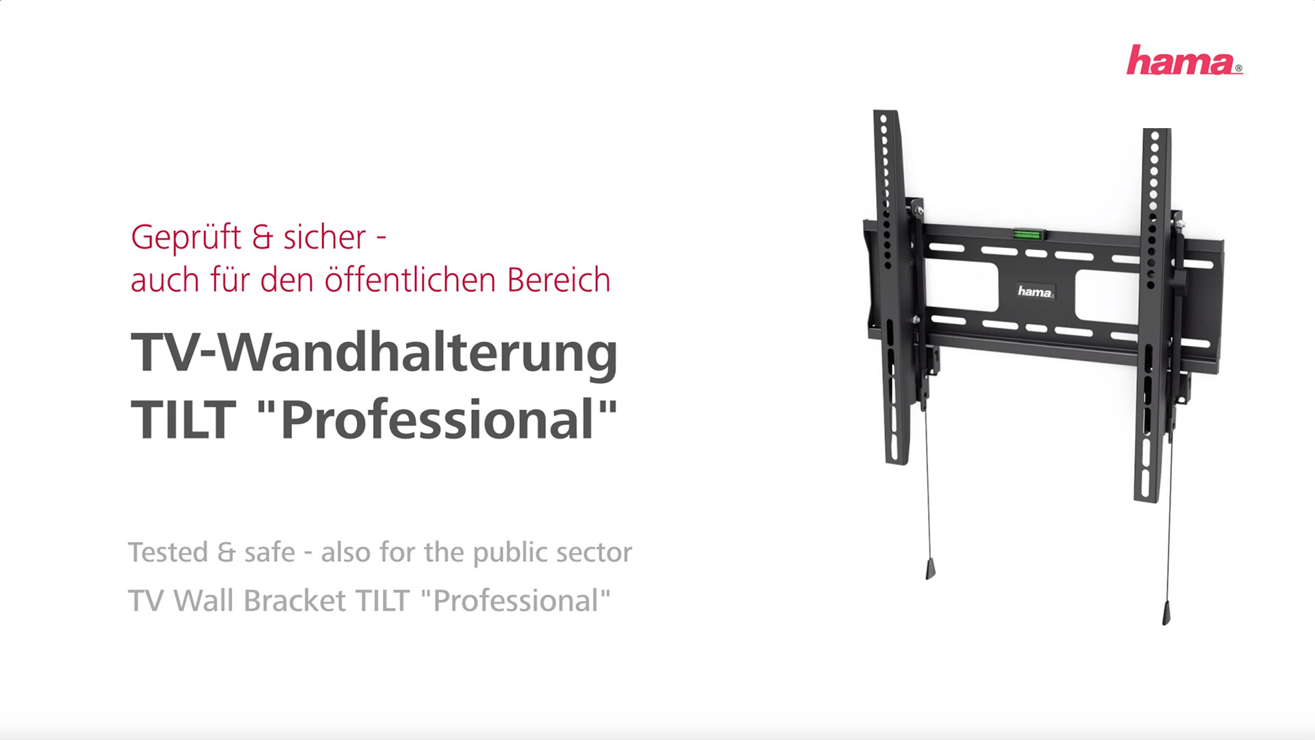 "Hama TV wall mount TILT ""Professional"", for TVs from 165 cm (65"") to 203 cm (80'')"