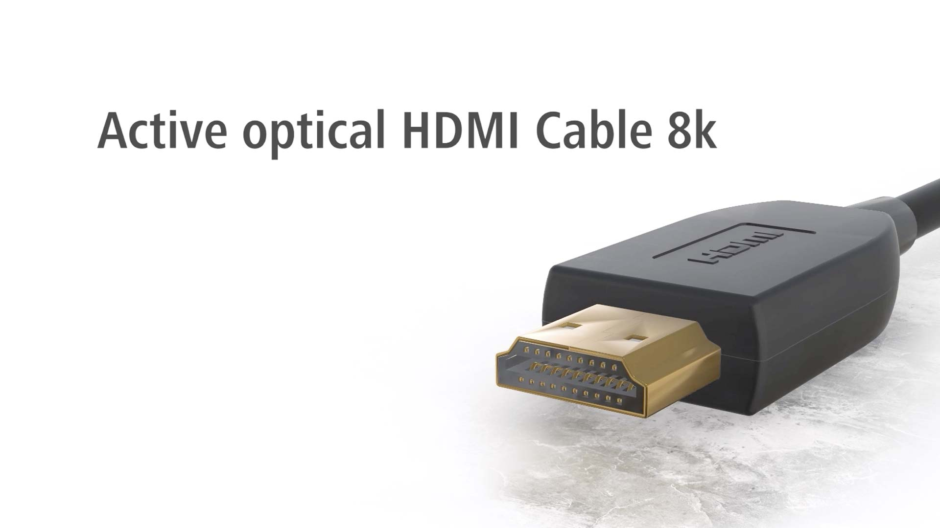 Hama Optical, active HDMI™ cable, 8K, gold plated, 3 m