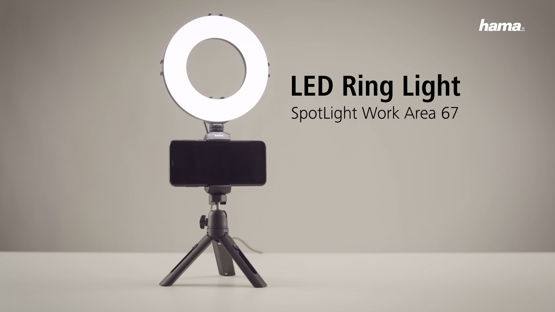 "Hama ""SpotLight Work Area 67"" LED Ring Light"